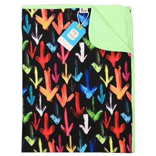 Купить Плед GlorYes! Стрелки 85х96 см черный/зеленый, Покрывала, подушки, одеяла