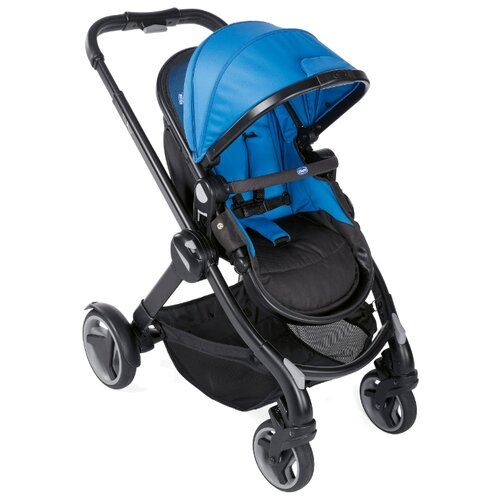 Коляска-трансформер Chicco Fully power blue коляска chicco multiway evo blue