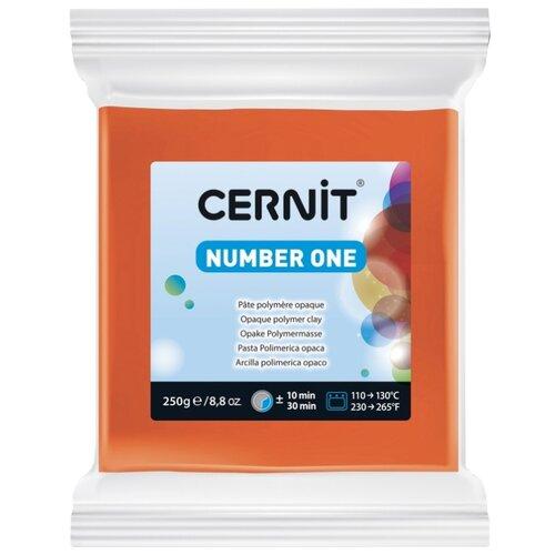 Купить Полимерная глина Cernit Number one оранжевая (752), 250 г, Глина