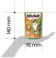 Корм для кошек Kitekat (0.085 кг) 1 шт. Сочные кусочки. С индейкой в соусе 0.085 кг 1