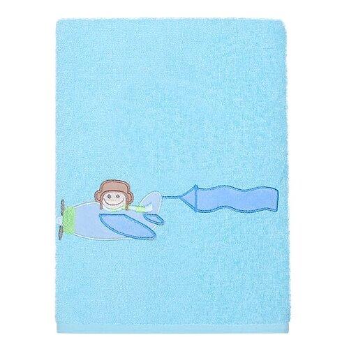 Kidboo Полотенце Самолётик банное 40х70 см голубой