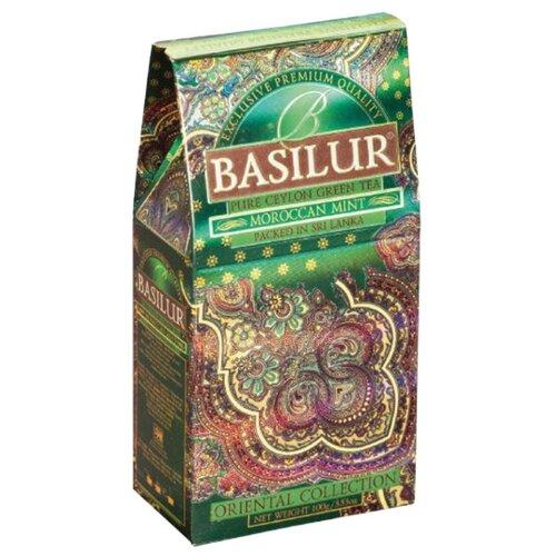 Чай зеленый Basilur Oriental collection Moroccan mint, 100 г basilur orient delight черный листовой чай 100 г