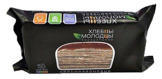 Хлебцы Молодцы цельнозерновые бородинские, 150г