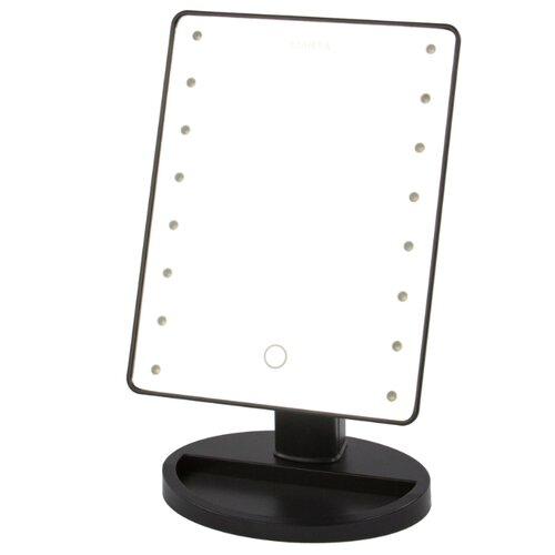Зеркало косметическое настольное MARTA MT-2654 с подсветкой черный жемчуг зеркало косметическое настольное marta mt 2653 с подсветкой молочный жемчуг