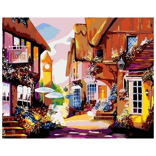 Купить Картина по номерам Живопись по Номерам Солнечная улочка , 40x50 см, Живопись по номерам, Картины по номерам и контурам
