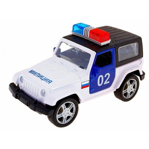 Внедорожник Autogrand USA Allroad 4WD милиция (49553) 1:36, белый / синий