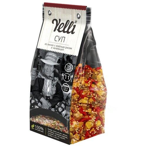 Yelli Суп из киноа с красным рисом и чечевицей 250 гСмеси для супов и гарниров<br>