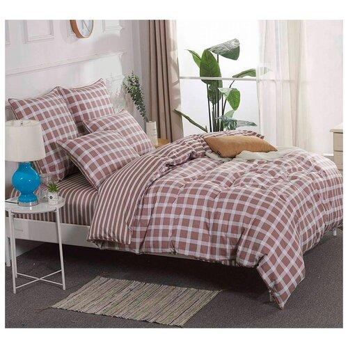 Постельное белье евростандарт Sofi De MarkO Мэджик сатин коричневый постельное бельё 1 5 сп sofi de marko постельное бельё 1 5 сп