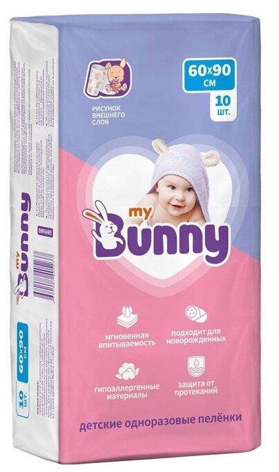 Одноразовые пеленки My Bunny с рисунком 60х90