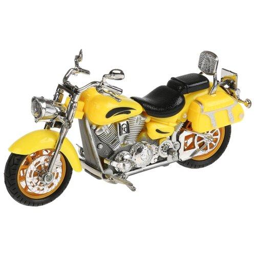 Купить Мотоцикл ТЕХНОПАРК Крузер (ZY086080-R) 14.5 см желтый, Машинки и техника
