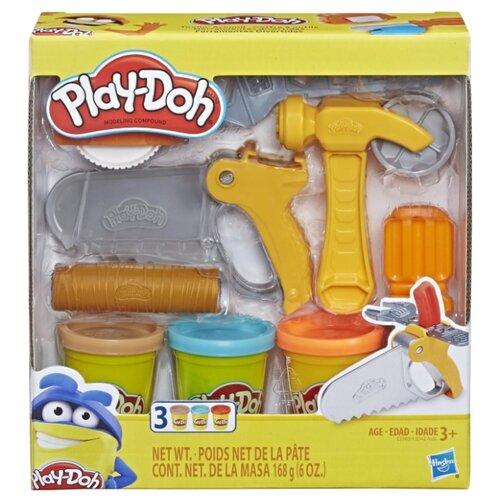 Купить Масса для лепки Play-Doh Строительные инструменты (E3565/E3342), Пластилин и масса для лепки