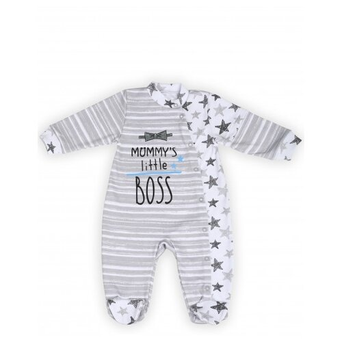 Купить Комбинезон Babyglory, размер 68, серый, Комбинезоны