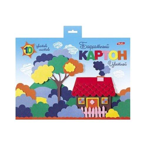 Купить Цветной картон Мой домик Hatber, A5, 10 л., 10 цв., Цветная бумага и картон