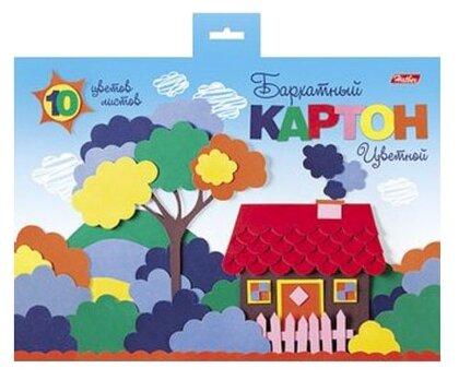Цветной картон Мой домик Hatber, A5, 10 л., 10 цв.
