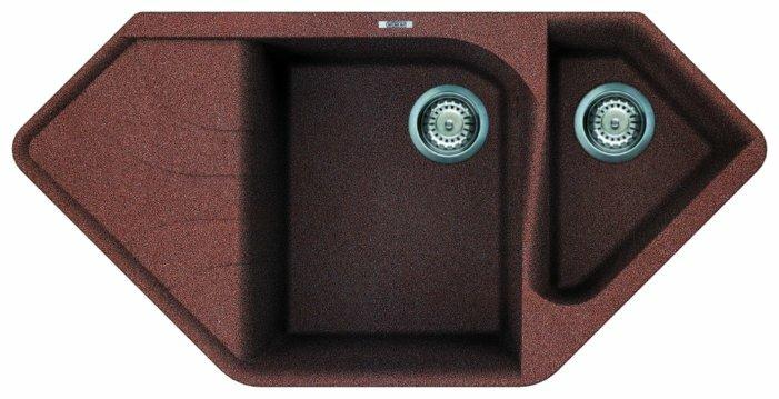 Врезная кухонная мойка smeg LSEC102-2 100х50см искусственный гранит