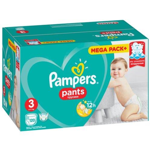 Купить Pampers трусики Pants 3 (6-11 кг) 120 шт., Подгузники