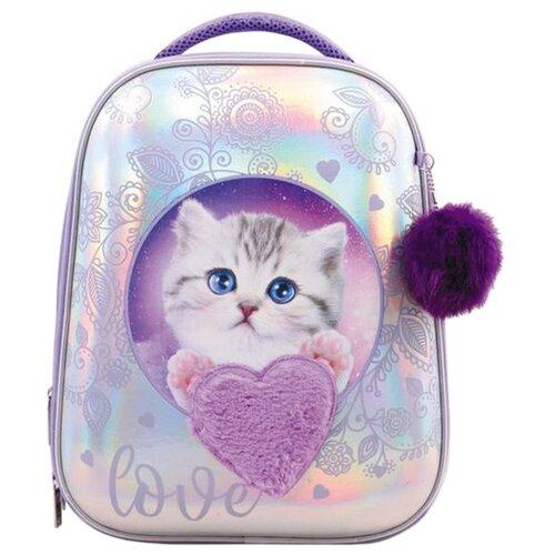Hatber Рюкзак Ergonomic Glamour kitten (NRk_30023), фиолетовый