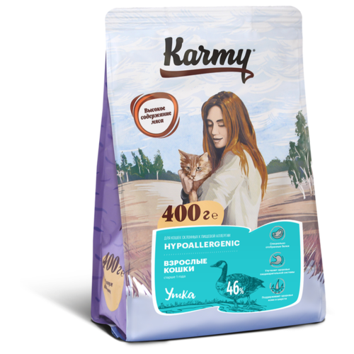 Корм для кошек Karmy с уткой 400 г