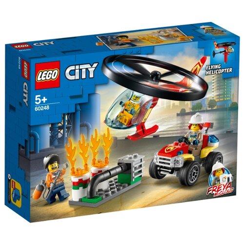 Конструктор LEGO City 60248 Пожарный спасательный вертолёт lego city 60179 вертолёт скорой помощи lego