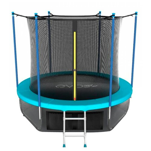 Каркасный батут EVO Jump 8FT Internal с нижней сетью 244х244х210 см wave каркасный батут oxygen fitness standard inside 8ft 244х244 см синий