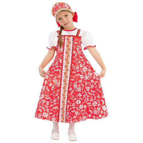 Купить Костюм пуговка Алёнка (1047 к-19), красный, размер 116, Карнавальные костюмы