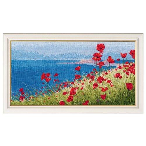Купить Овен Цветной Вышивка крестом Лето, море, маки 37 х 20 см (1028), Наборы для вышивания