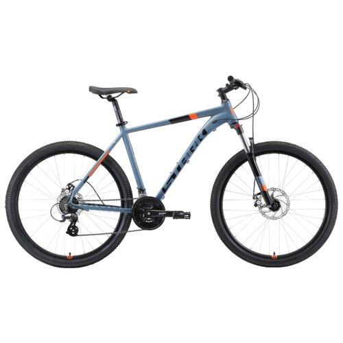 Горный (MTB) велосипед STARK Router 27.3 D (2019) серый/черный/оранжевый 22
