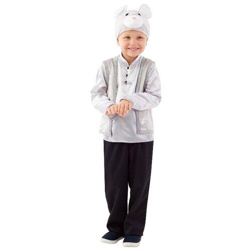 Купить Костюм пуговка Мышонок (1065 к-20), серый, размер 116, Карнавальные костюмы
