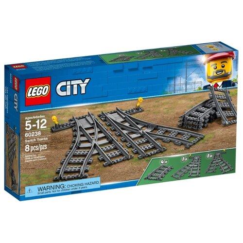 Купить Дополнительные элементы для конструктора LEGO City 60238 Рельсы и стрелки, Конструкторы