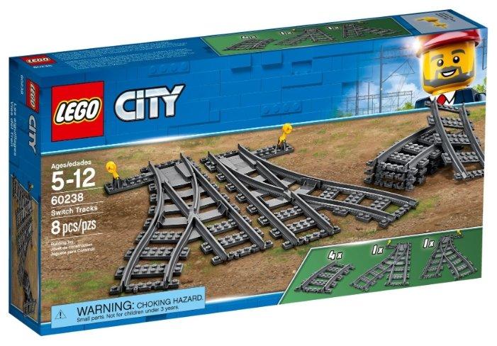 Дополнительные элементы для конструктора LEGO City 60238 Рельсы и стрелки