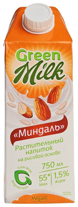 Рисовый напиток Green Milk Миндаль 1.5%, 750 мл