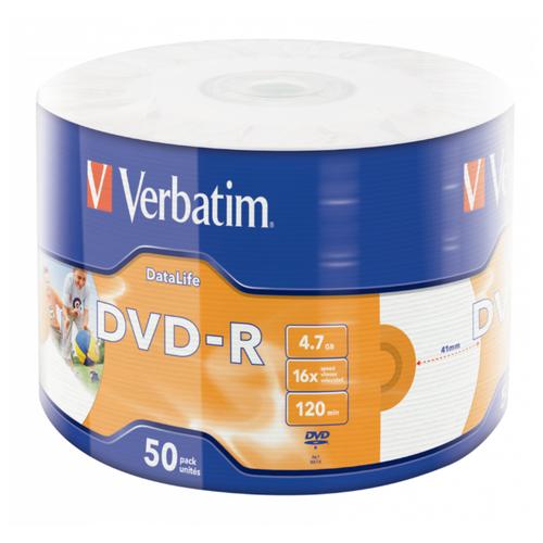 Фото - DVD-R Диск VERBATIM Inkjet Printable (под печать) (PACK 50 шт.) 16x 4.7GB 120 min диск dvd r verbatim 4 7gb 16x cake box 50 штук printable 43512