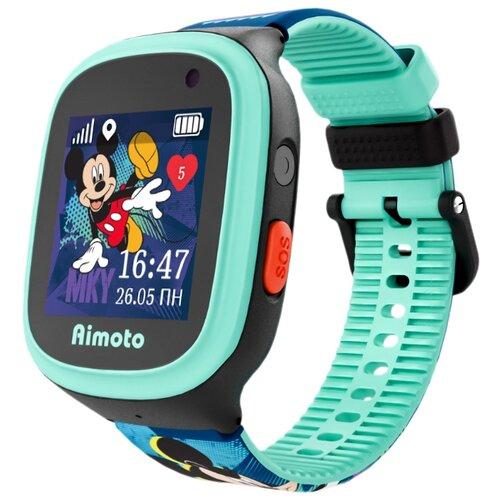 Часы Кнопка жизни Disney Микки черный/голубой