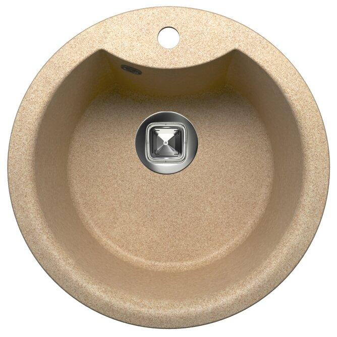 Врезная кухонная мойка Tolero R-108E 51х51см кварцевый искусственный камень