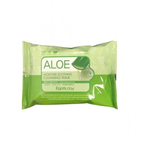 Farmstay салфетки очищающие увлажняющие с экстрактом алоэ, 30 шт.Очищение и снятие макияжа<br>