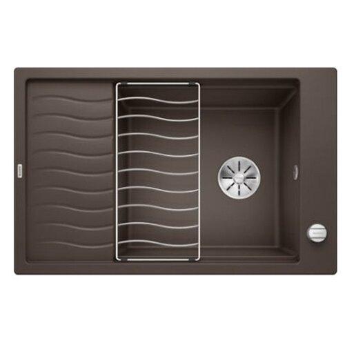 Врезная кухонная мойка 78 см Blanco Elon XL 6S с клапаном-автоматом 524843 кофе