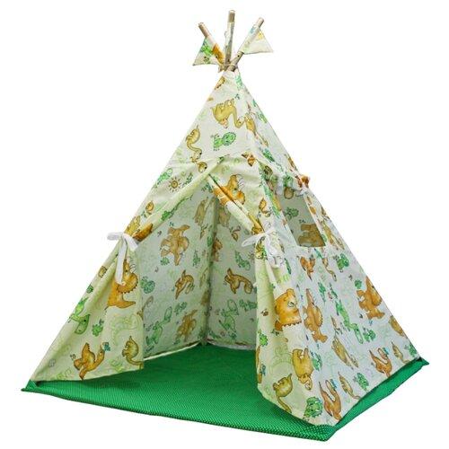 Палатка ДоММой Стандартный с ковриком динозаврыИгровые домики и палатки<br>