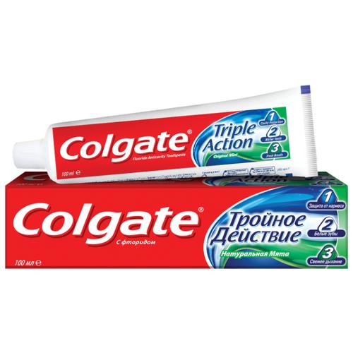Купить Зубная паста Colgate Тройное действие Натуральная мята комплексная, 100 мл