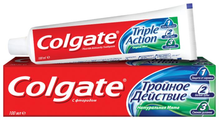 Зубная паста Colgate Тройное действие, мята