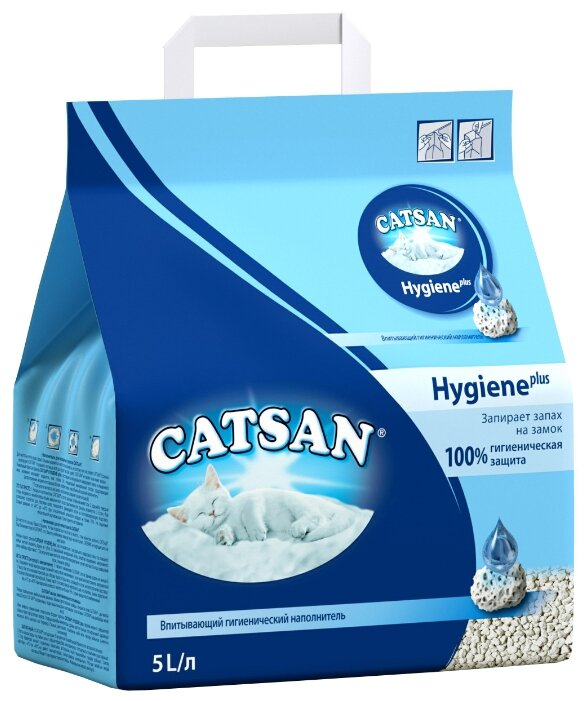 Наполнитель Catsan Hygiene Plus (5 л)