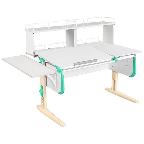 Стол ДЭМИ СУТ-25-02Д2 145x82 см белый/аквамарин/бежевый стол дэми сут 25 02д2 145x82 см белый зеленый бежевый