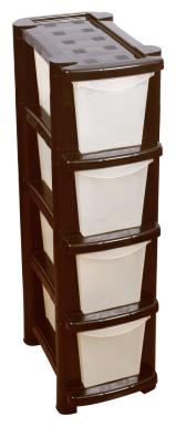 Комод BranQ Deco (BQ3780) , размер: 25х41 см , цвет: коричневый/бежевый