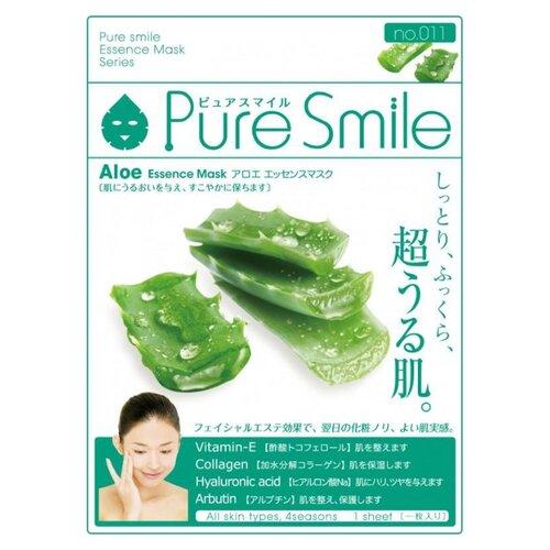 Sun Smile тканевая маска Pure smile Aloe Essence с экстрактом алоэ, 23 мл sun smile тканевая маска yogurt mask увлажняющая с экстрактом отрубей 23 мл