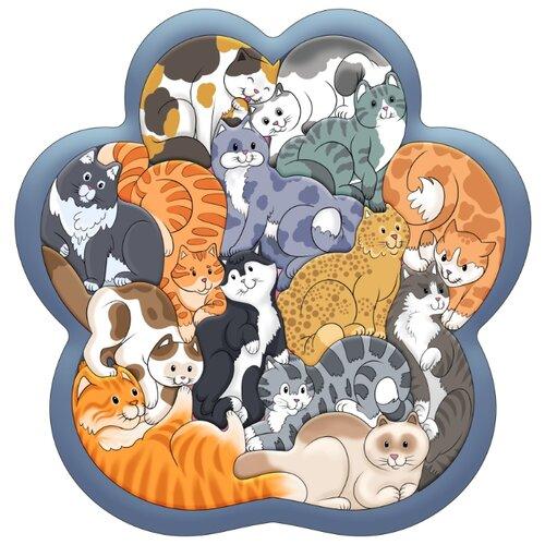 Купить Зоопазл Кошки 14 дет. (дерево), Нескучные игры, Пазлы