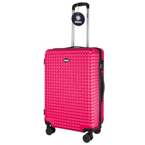 Чемодан PROFFI Tour Quattro Smart M 62 л, розовый чемодан proffi business lady m 63 л розовый