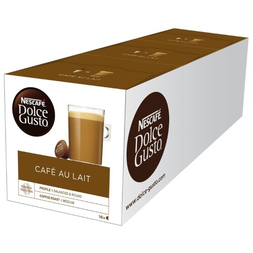 Кофе в капсулах Nescafe Dolce Gusto Cafe Au Lait (48 капс.), без кофеина кофе в капсулах nescafe dolce gusto mexico americano 12 капс