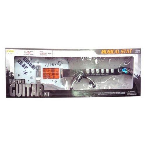 Junfa toys гитара HK-9010E белый/черныйДетские музыкальные инструменты<br>