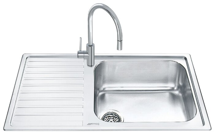 Врезная кухонная мойка smeg LGM861S-2 86х50см нержавеющая сталь