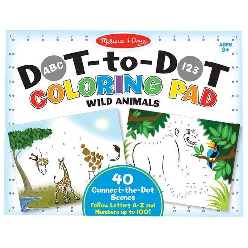 Melissa & Doug Раскраска по номерам Дикие животные (9104), Раскраски  - купить со скидкой