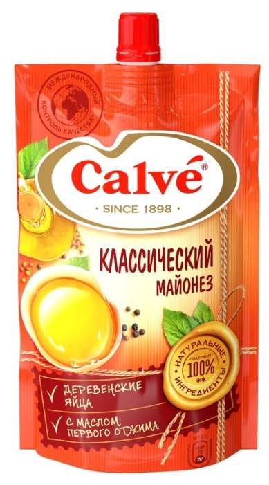 Майонез Calve Классический 50%